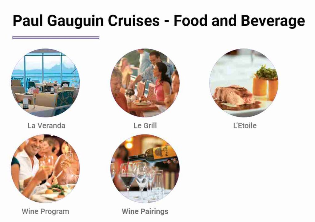 Paul Gauguin Cruises Review- Food and Beverage